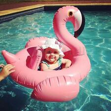 Baby Kid Inflatable Flamingo Float Donut Shape Swimming Pool Fun Water Raft Ring