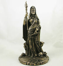 "GREEK GODDESS HEKATE GODDESS of MAGIC FIGURINE BRONZED HECATE STATUE | 11"" H NEW"