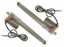 "2 Linear Actuators 12"" inch Stroke Heavy Duty 12 Volt DC 200 Pound Max Lift Set"