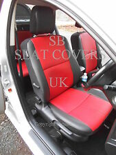VOLKSWAGEN TIGUAN CAR SEAT COVERS RED + BLACK LEATHERETTE FULL SET CSC503