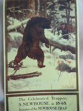 Newhouse Traps Philip R. Goodwin Bear In Bear Trap Advertising Poster