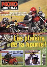 MOTO JOURNAL 1344 HUSQVARNA 610 Super Motard HONDA CBR 1100 XX CB 600 HORNET
