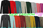 LADIES CARDIGAN WOMEN'S CHUNKY CABLE KNITTED BOYFRIEND WINTER JUMPERS SIZE 8-22
