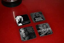 Marilyn Monroe Quotes Wooden Coaster Set