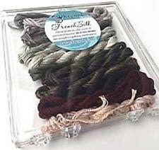Kreinik Neutral French Silk Set - 14 2.5m Skeins 100% Silk Floss New