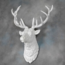 Large Stags Stag Head White Deer Antlers Wall Mounted Urban Sculpture Art New
