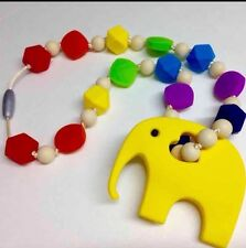 Teething Ring Necklace Baby Teether Carrier Tula Ergo Rainbow