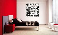 BASEBALL COLLAGE SUBWAY LETTERING DECAL WALL VINYL DECOR STICKER ROOM SPORTS