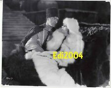 GRETA GARBO Older Restrike RARE Photo SEXY 1930s Outdoors Couple White Fur Coat