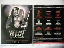 PUBLICITE-ADVERTISING :  HELLFEST 2011 [2pages] 2011 Ozzy,Iggy,Scorpions,Opeth