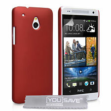 HTC One Mini M7 Red Hybrid Plastic Hard Case Cover + Free Screen Protection UK