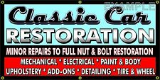 CLASSIC CAR RESTORATION OLD SCHOOL SIGN REMAKE BANNER SHOP GARAGE ART 2 X 4