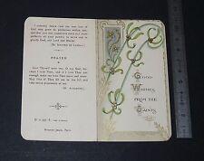 CHROMO 1920-1929 IMAGE PIEUSE CATHOLICISME HOLY CARD RELIGION WISHES FROM SAINTS