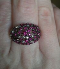 $3600 Effy Diamond and Ruby 14K White Gold Ring NWOT 1.47 TCW Macy's
