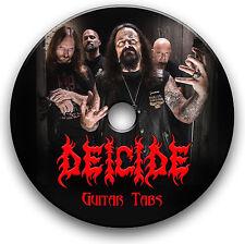 DEICIDE DEATH MÉTAL GUITARE ROCK TABLATURE LIVRE MUSICAL CD DU LOGICIEL