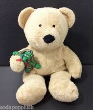TY Pluffies Beary Merry Christmas Brown Plaid Bear 2005 Plush Stuffed Animal Toy