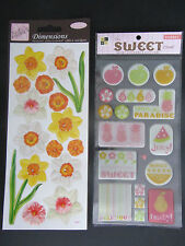 2 x Stickers Packs Anita's Dimensions Daffodils & DCWV Epoxy Sweet Sorbet 02