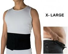 XL Adjustable Black Sauna Slimming Belt Burn Belly Fat Gym Body Trim Tummy Wrap