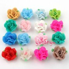 Mixed Lots 30x fimo Flower Polymer Clay Beads B719 3+1 YJ
