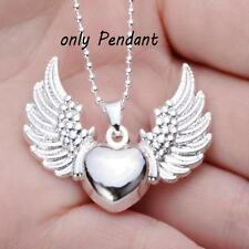 Jewelry Love Angel's Wing Silver Plated Necklace Heart Angel  Pendant