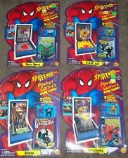 Marvel Spider-Man Pocket Comic Playsets Lot of 4 - Toy Biz - MOC