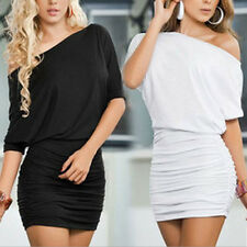 1x Ladies Dress Slim Fit Ruched Body Con Short Tight Women Stylish Cocktail