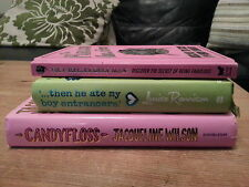 Candyfloss Jacqueline Wilson,..then he ate my boy entrancers Louise Rennison