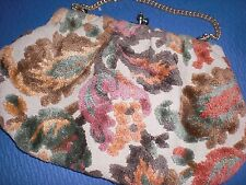 Vintage Embroidered Flowers Clutch Purse
