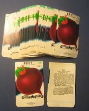 Wholesale Lot of 100 Old Vintage Early Blood Turnip BEET Vegetable SEED PACKETS