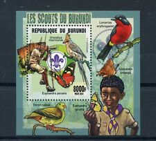Burundi 2014 MNH Scouting Birds & Butterflies 1v S/S Scouts Mousebird Insects
