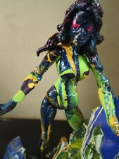 ABSTRACT custom hand painted figure and base by artist musk yai marvel female
