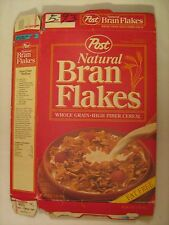 "POST Cereal Box 1993 NATURAL BRAN FLAKES ""Fat Free"" [G7e5]"