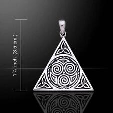 Triskele/Triquetra Pyramid Pendant - Sterling Silver  Peter Stone