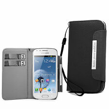 For Samsung Galaxy Phone Models - Wallet Leather Case Cover Book With Stylus
