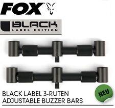 Fox Black Label 3-Ruten Adjustable Buzzer Bars für Karpfenruten