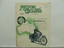 Aug 1953 The Motorcycling Magazine AJS Matchless Clubman Avon Trophy Trial L8350