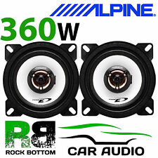"ALPINE PEUGEOT 107 2005 Onwards 4"" 10cm 2 way 360W Car Coaxial Top Dash Speakers"