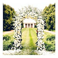 "90"" White Metal Arch for Wedding Party Decoration - Free Expedited Shipping"