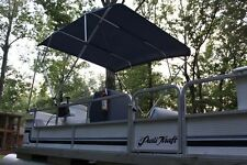 "NEW VORTEX 4 BOW PONTOON BOAT BIMINI TOP 6' long NAVY BLUE 85-90"" wide"