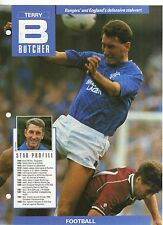 TERRY BUTCHER - PROFILE & FACT SHEET 1958 to 1988