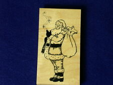 Great Impressions G444 Santa Wishes Holiday Christmas Snowflakes Rubber Stamp