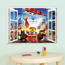 LEGO Movie finestra 3D Muro Arte Adesivo Decalcomania Murale Sfondo Kid's Room