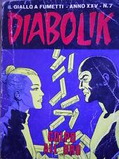 DIABOLIK - prima edizione - anno XXV N°7 [G.245] - MEDIOCRE