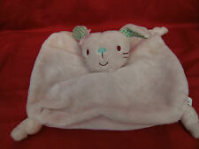 "Mini Club Pink Bunny Rabbit Comforter With Green Gingham Check Ears 9"" x 9"""