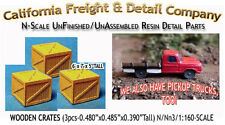 WOODEN CRATES/BOXES-xLARGE (3pcs) N/1:160-Scale California Freight & Details Co.