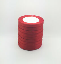 "New 50 Yards 3/8"" 10mm Red Bulk Satin Ribbon Craft sewing Supplies crafts #A"