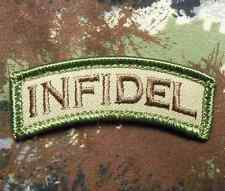 INFIDEL TAB TACTICAL USA ARMY MORALE ROCKER MILITARY BADGE MULTICAM VELCRO PATCH