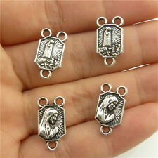18771-40x Vintage Prayer Sincere Faith Connector Dangle Virgin Mary Pendant