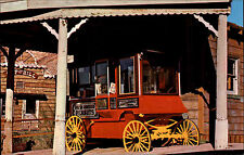 Calico Ghost Town CA USA California postcard ~1960/70 Old Peddlers Popcorn Wagon