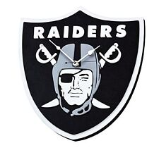 NFL Oakland Raiders 3D Foam Wall Clock Made in USA Man Cave Decor Licensed New
